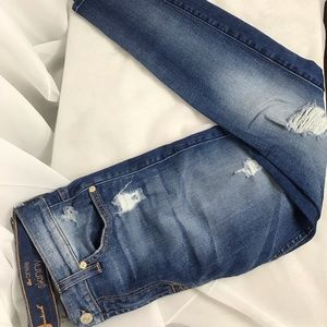 7 For All Mankind The Ankle Skinny Fit Destroyed